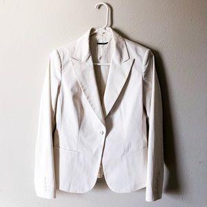 ELIE TAHARI white blazer - one button closure